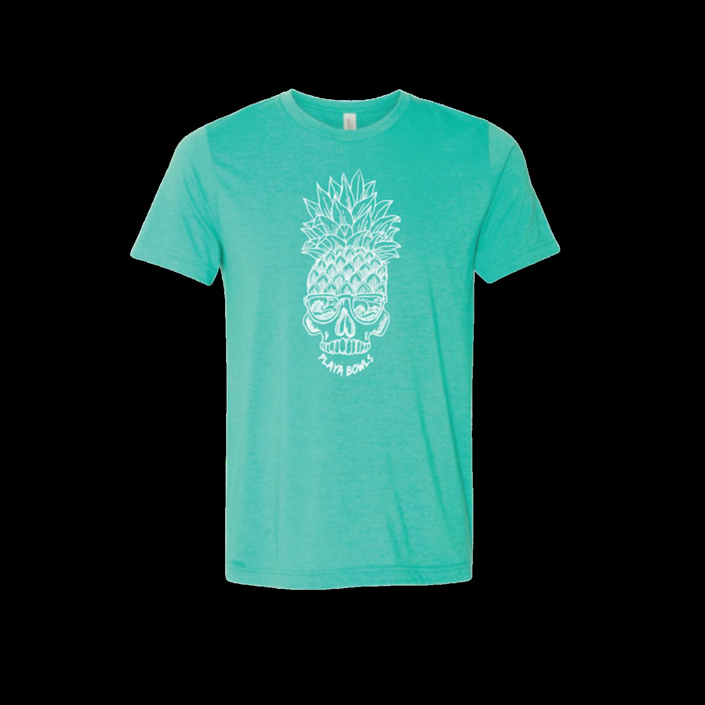 Mint Pineapple Skull T-Shirt